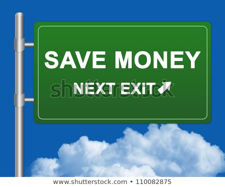 Stock fotó: Save Money Highway Sign