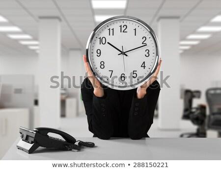 duro · reloj · palabras · gafas · mirar · lente - foto stock © kbuntu