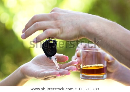 gambling with whiskey and car keys Stock photo © morrbyte