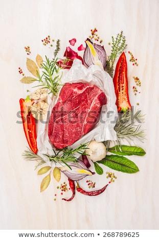 Taze et çorba kemikleri et suyu Stok fotoğraf © luiscar