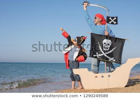 Happy boy pirate costume Stock photo © lovleah