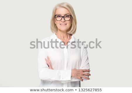 Сток-фото: Nurse Standing Smiling Isolated