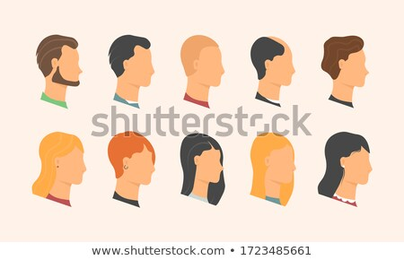 Face Side View of Teenage Female Girl on Black stock photo © mkm3