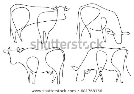 tekening · koe · kwekerij · papier · familie · gelukkig - stockfoto © romvo