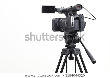 Stock photo: Professional digital video camera, isolated on white background