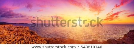 Panorámakép kilátás Vörös-tenger tengerpart híres turisztikai Stock fotó © rglinsky77