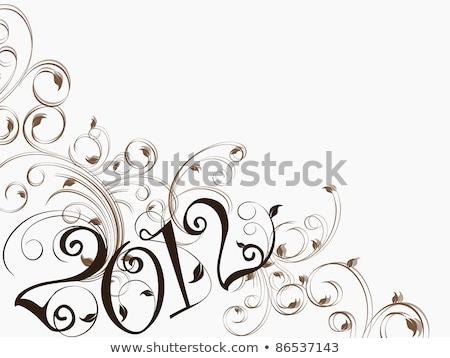 Vecteur artistique travaux design texte 2012 Photo stock © aispl
