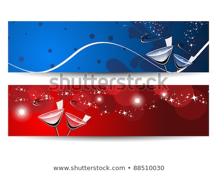 dois · natal · banners · neve · fundo · inverno - foto stock © aispl