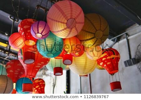 Сток-фото: красочный · китайский · потолок · украшенный · традиционный · здании