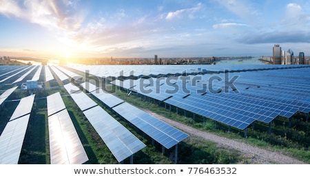 Stock photo: Solar panels on skyscraper