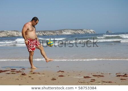 Oynama top plaj futbol model Stok fotoğraf © pedromonteiro