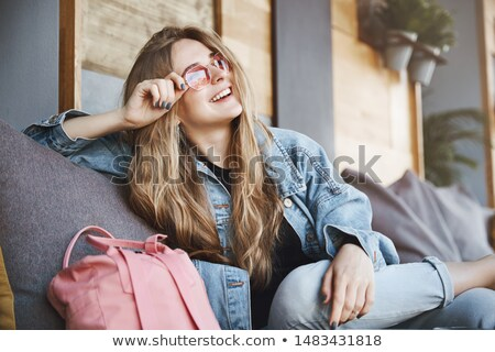 счастливым молодые деловой женщины улице кафе красивой Сток-фото © Bananna