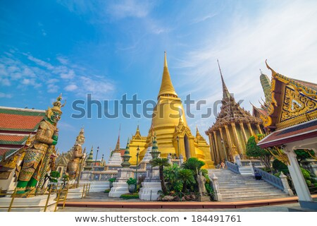 Roof Wat Phra Kaew Thailand Stock photo © teusrenes