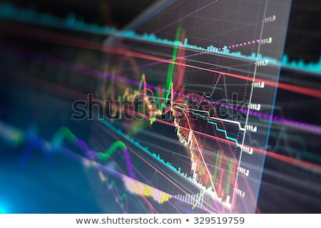 Stock photo: Analysis colorful stock chart on monitor