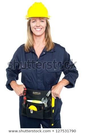 Female Architect On Site Holding Her Hard Hat ストックフォト © stockyimages