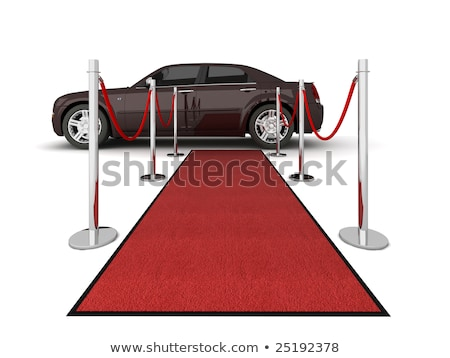 Illustration of a VIP red carpet leading with waiting limousine. Stock photo © dacasdo