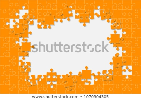 Complete vector puzzle / jigsaw template Stock photo © orson