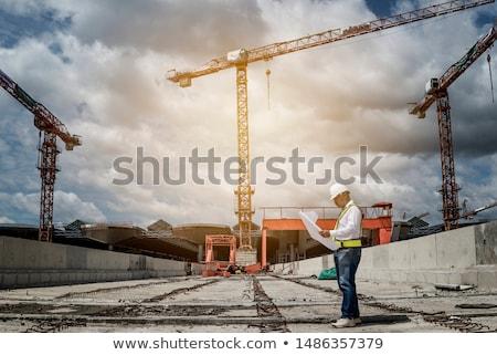 polgári · mérnöki · illusztráció · felirat · építkezés · kék - stock fotó © photography33