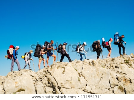 hiker on mountain ridge Stock photo © Antonio-S