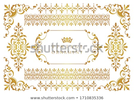Vintage Floral Border Stock photo © vectomart