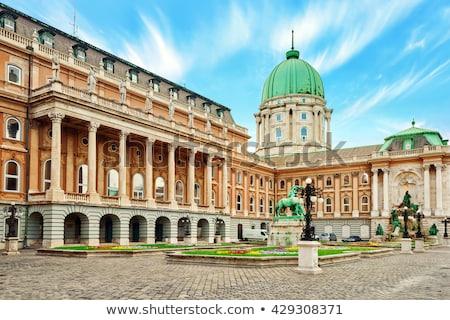 Budapeşte · kraliyet · saray · detay · Macaristan · Bina - stok fotoğraf © krysek
