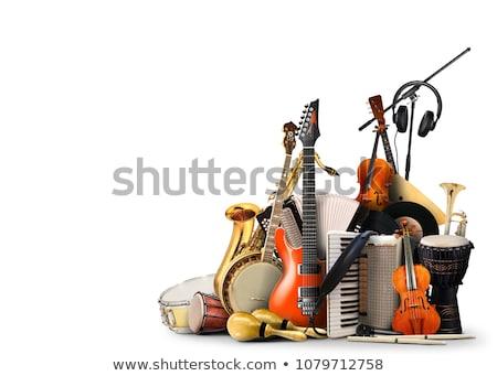 современных музыкальные инструменты вектора электрических клавиатура Сток-фото © ThomasAmby