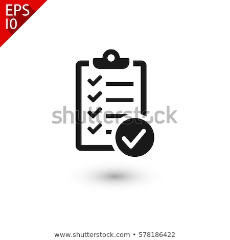 Clipboard icon with paper Stock photo © gladiolus