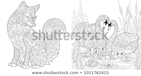 baby animals coloring book stock photo © sifis