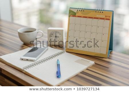 detail · pen · agenda · ondiep · kantoor - stockfoto © redpixel
