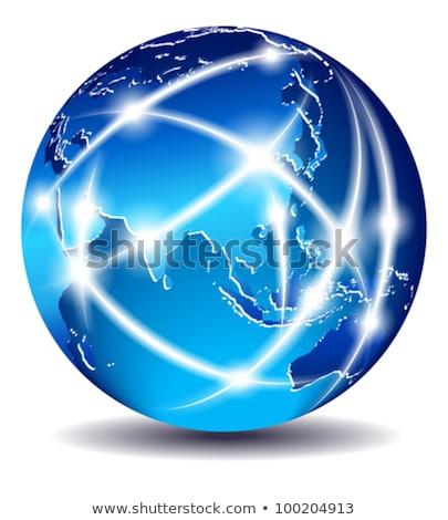 Communication World, Global Commerce - China, Far East - EPS 10 Stock photo © fenton