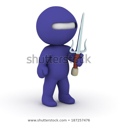 Stock photo: 3d small people - ninja