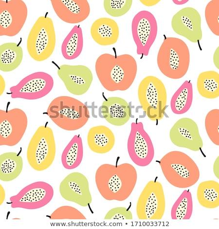 Verde fresco maçãs abstrato isolado Foto stock © boroda