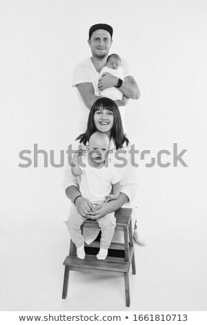 商业照片: 可爱 · 孩子们 ·组·栏· 孤立 ·白