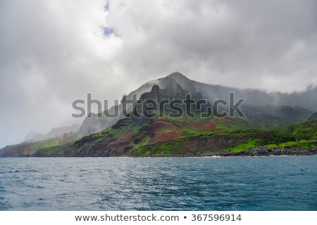 Tropical plants on a rugged island Stock photo © wildnerdpix