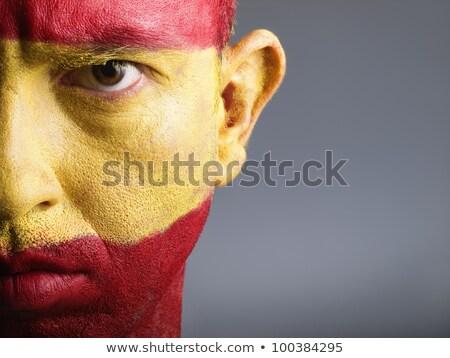 Apasionado España mundo fondo nino máscara Foto stock © photography33