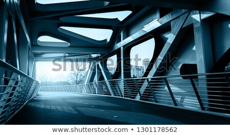 çelik köprü eski Zimbabve harika inşaat Stok fotoğraf © jacojvr
