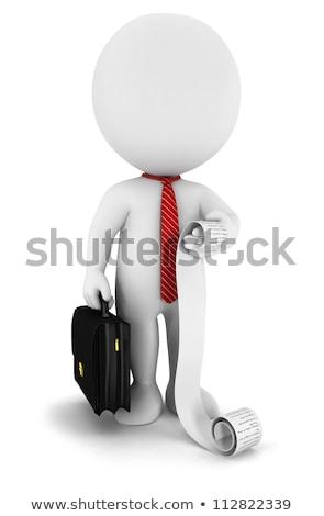 3D küçük insanlar işadamı liste kişi Stok fotoğraf © AnatolyM