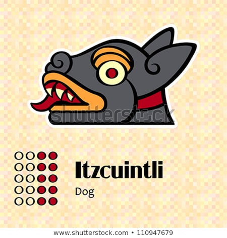 Aztec symbol Itzcuintli Stock photo © sahua