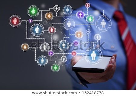 acceso · medios · de · comunicación · social · botón · aislado · blanco · negocios - foto stock © tashatuvango