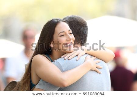Człowiek kobieta przytulić ilustracja umiłowany para Zdjęcia stock © oxygen64