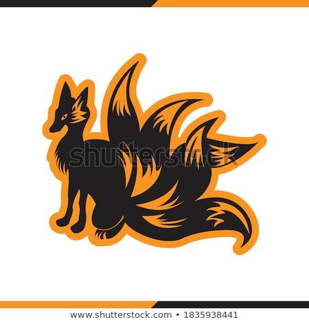 Graphique vecteur image heureux courir Fox Photo stock © chromaco