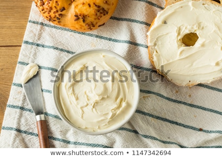 Bagel with Cream Cheese Spread Stock photo © ca2hill