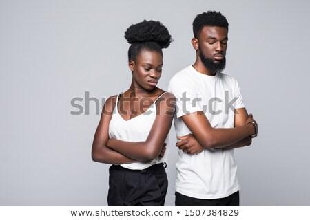 пару аргумент борьбе более белый женат Сток-фото © photography33