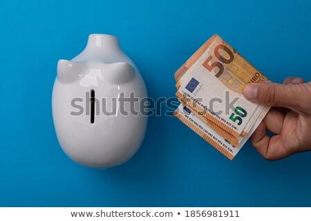Domuz euro gökyüzü doku arka plan alışveriş Stok fotoğraf © mariephoto