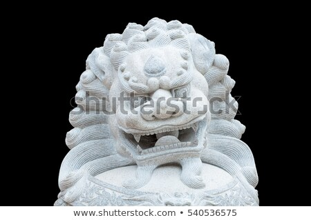 Chinese lion statue. stock photo © oscarcwilliams