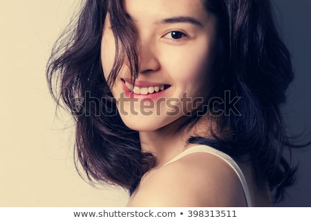 Stok fotoğraf: Asya · kadın · yüksek · saç · kız