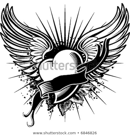 flying heart tattoo  Stock photo © creative_stock