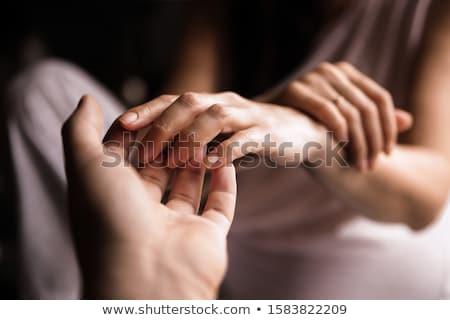 man holding woman stock photo © acidgrey