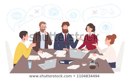 Bureau problemen jonge man kantoor lezing toepassing Stockfoto © silent47
