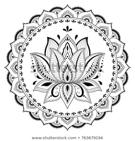 collectie · henna · stijl · ontwerp · communie · Oost - stockfoto © hpkalyani